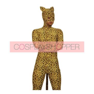 Leopard Spots Male Full Body Lycra Spandex Zentai Suit