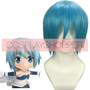 Light Blue 32cm Puella Magi Madoka Magica Miki Sayaka Cosplay Wig