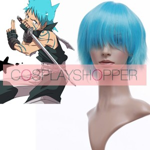 Light Blue 32cm Soul Eater Black Star Cosplay Wig
