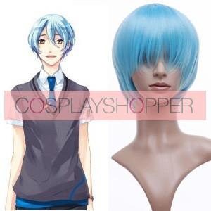 Light Blue 32cm Starry Sky Kanakubo Homare Cosplay Wig