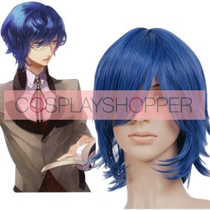 Light Blue 40cm Starry Sky Mizushima Iku Nylon Cosplay Wig