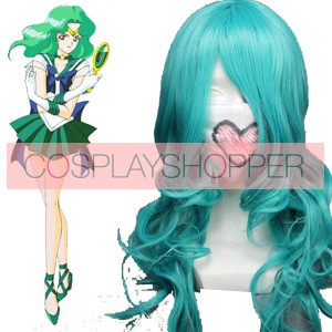 Light Blue Sailor Moon Sailor Neptune Kaioh Michiru Cosplay Wig