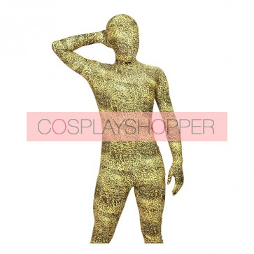 Light Brown Leopard Full Body Lycra Spandex Animal Zentai Suit