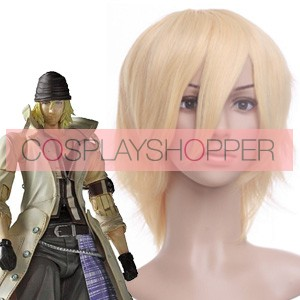 Light Gold 32cm Final Fantasy 13 Snow Nylon Cosplay Wig