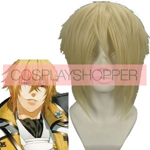 Light Gold 32cm Hakuouki Kazama Chikage Cosplay Wig