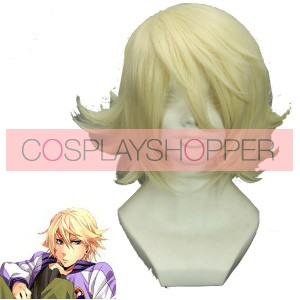 Light Gold 32cm Tiger & Bunny Origami Cyclone Cosplay Wig