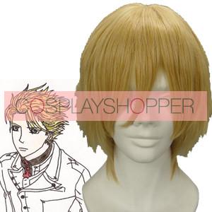 Light Gold 32cm Vampire Knight Hanabusa Aido Cosplay Wig