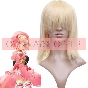 Light Gold 40cm When They Cry 3 Lambdadelta Nylon Cosplay Wig