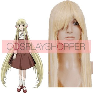 Light Gold 80cm Chobits Chii Cosplay Wig
