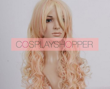 Light Gold 90cm Macross Frontier Sheryl Nome Cosplay Wig