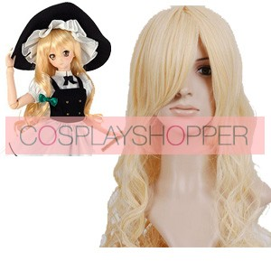 Light Gold 90cm Touhou Project Kirisame Marisa Cosplay Wig