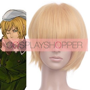 Light Gold Axis Powers Hetalia Switzerland Vash Zwingli Cosplay Wig