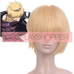 Light Gold Katekyo Hitman Reborn! Belphegor Cosplay Wig