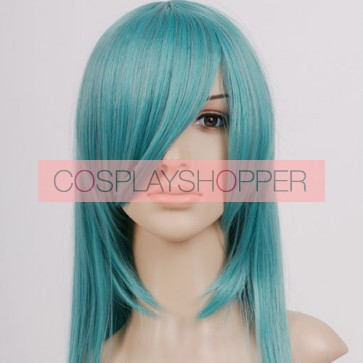Light Green Long Straight Cosplay Wig