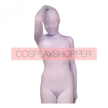 White Lycra Spandex Unisex Zentai Suit