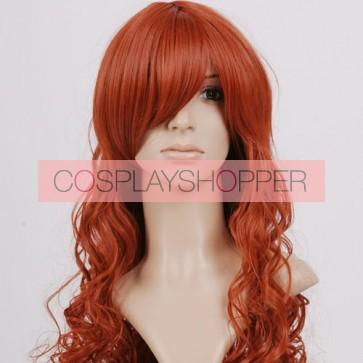 Long Brown Curly Cosplay Wig