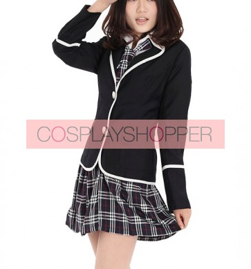 Long Sleeves Girl Japanese School Winter Uniform Cosplay Costume