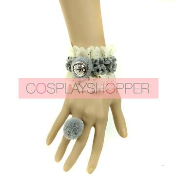 Lovely Button Mori Girls Lolita Bracelet And Ring Set