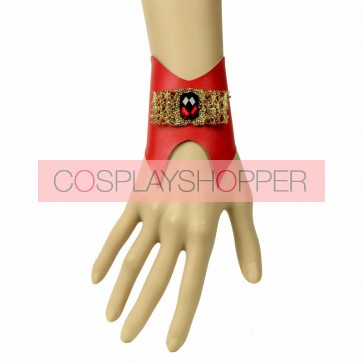 Lucky Red Leather Lady Lolita Wrist Strap