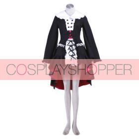 Haruhi Suzumiya Nagato Yuki Black Maid Lolita Dress