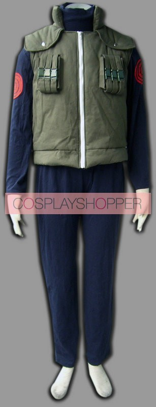 Naruto Hatake Kakashi Hidden leaf village of Konoha Jounins Cosplay Uniform