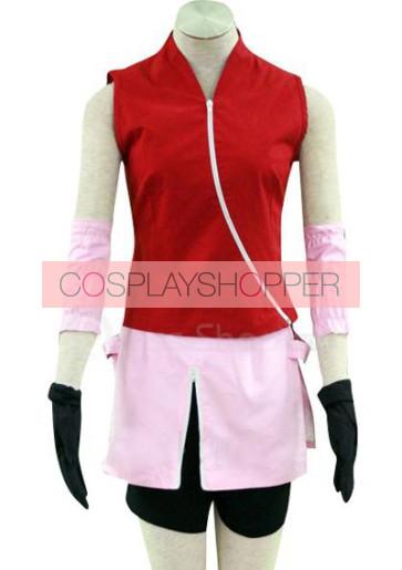 Naruto Haruno Sakura Shippuden Cosplay Costume - 2nd Edition