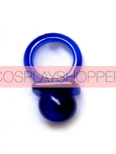 Navy Blue Hitman Reborn Nipple Synthetic Opal Cosplay Ring