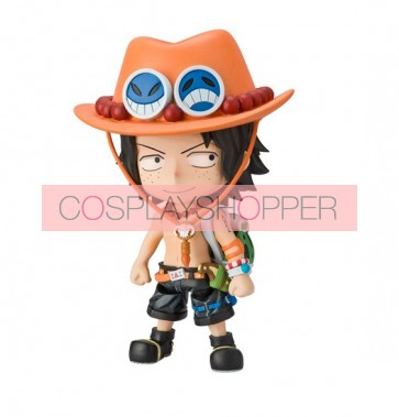 One Piece Cute Portgas D Ace Mini PVC Action Figure - B