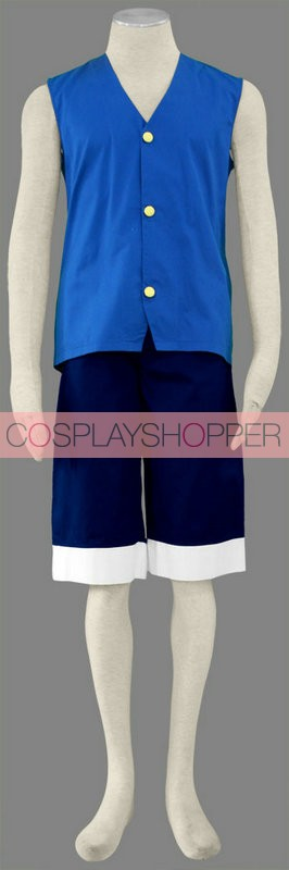 One Piece Monkey D. Luffy Cosplay Costume - 2nd Edition