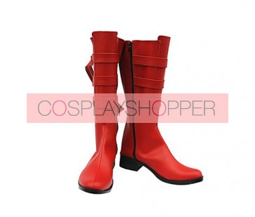 One Piece Nami Red Cosplay Boots