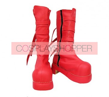 One Piece Perona Red Cosplay Boots