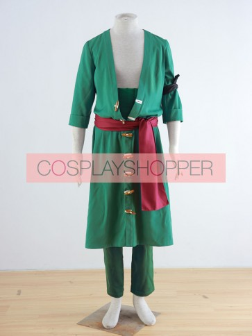 One Piece Roronoa Zoro Cosplay Costume (Green)