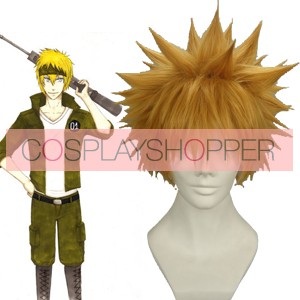 Orange 30cm Katekyo Hitman Reborn! Colonnello Cosplay Wig