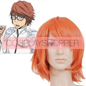Orange 32cm Katekyo Hitman Reborn! Irie Shoichi Cosplay Wig