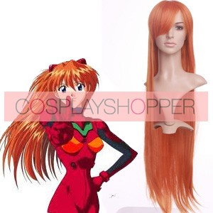 Orange 80cm Neon Genesis EVA Asuka Langley Sohryu Cosplay Wig