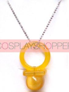 Orange Hitman Reborn Nipple Synthetic Opal Cosplay Necklace