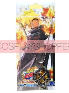 Orange Katekyo Hitman Reborn Alloy Anime Necklace