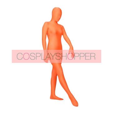Orange Lycra Spandex Unisex Zentai Suit