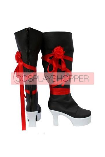 Pandora Hearts Oz Vessalius Red Ribbon Cosplay Boots