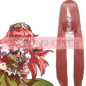 Pink 100cm Tonhou Project Hong Meiling Nylon Cosplay Wig