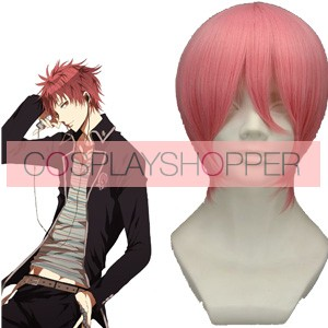 Pink 32cm Ao No Exorcist Renzo Shima Cosplay Wig