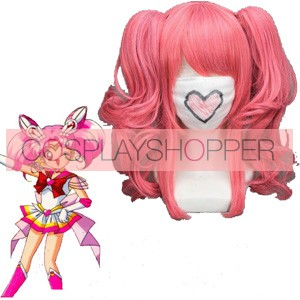 Pink 40cm Sailor Moon Chibi Usa Cosplay Wig