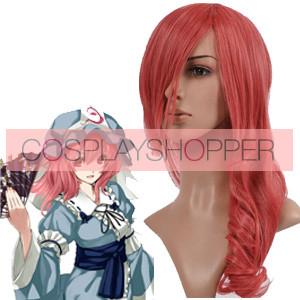 Pink 65cm Tonhou Project Saigyouji Yuyuko Cosplay Wig