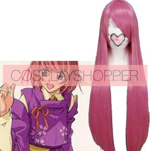 Pink 80cm Harukanaru Hachiyou Shou Toki no Naka De Cosplay Wig