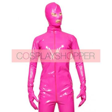 Pink Full Body Unisex PVC Zentai Suit