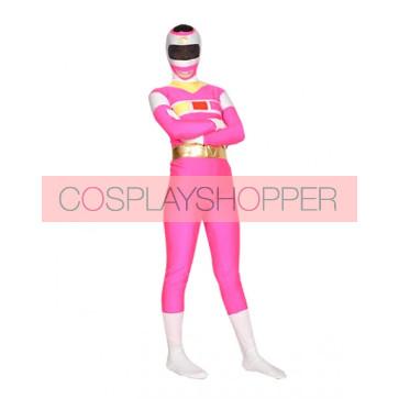 Pink Lycra Spandex Unisex Superhero Zentai Suit