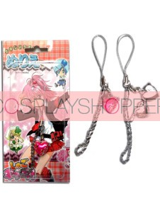 Pink Shugo Chara Alloy Cosplay Phone Strap