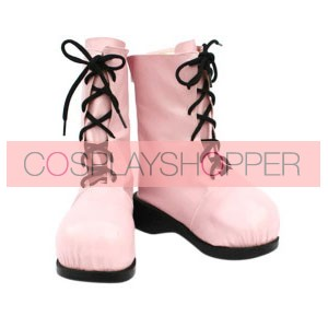 Pokemon Jigglypuff Pink Faux Leather Cosplay Boots