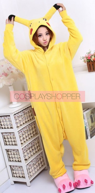 Pokemon Pikachu Kigurumi Cosplay Costume