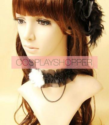 Pretty Black Baroque Lolita Choker